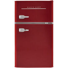 2 DOOR MINI FRIDGE 3 2 Cu Ft Small Compact Retro Refrigerator Freezer Red