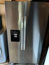 Whirlpool WRS335SDHM 36  Stainless Side by Side Refrigerator W  24 5 cu ft
