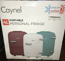 NEW SEALED CAYNEL 4Liter   6Can  Portable Compact Personal Fridge   WHITE