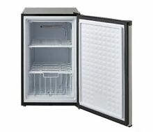 UPRIGHT FREEZER Small Mini 3 Cu Ft Shelves Stainless Steel Home Kitchen