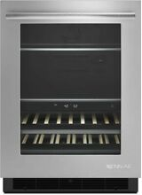 Jenn Air Euro Style 24  SS Under Counter Beverage Refrigerator JUB24FRERS