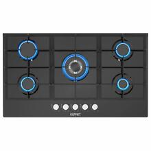Built in Gas Cooktop  Gas Stove with 5 Booster Burners Smooth Surface 36  Black