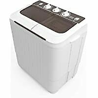 KUPPET Washing Machine Compact Twin Tub Wash Spin Combo for Apartment dorms RV s