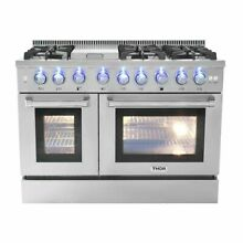 Thor Kitchen 48  6 Burner Gas Range With Double Oven and Griddle
