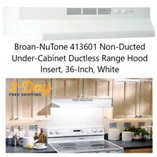 Non Ducted Under Cabinet Ductless Range Hood Insert  36 Inch  LIGHT White