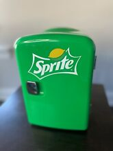 Sprite Green Lime Soda Mini Personal Fridge Compact Cooler Refrigerator Retro