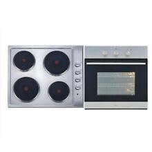 Bellini 60cm Stainless Steel Electric Cooktop and Oven Package