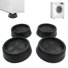 4X Rubber Anti Vibration Pads Washer Dryer Machines Reduce Noise Walking Silent