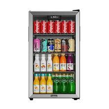 Galanz Beverage Refrigerator and Cooler   130 Can Mini Fridge with Glass Door fo