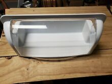 GE Profile Side by Side Refrigerator Door Shelf Bin with Hinged Cover