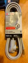 Utilitech 6 Ft   10 Gauge 30 Amp 3 Prong 3 Wire Dryer Power Cord  New in Package