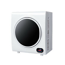 2 6Cu Ft 4kg Tumble Dryer Electric Compact Drying Machine Stainless Steel LCD