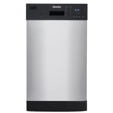 Danby Built In Dishwasher 115V 18 in  6 Cycle Hard Food Filter Stainless Steel