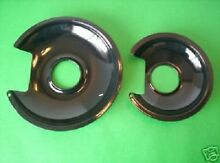 NEW 2 BLACK PORCELAIN Drip Pans FOR THE JENN AIR Cartridge A100 OR THE JEA7000