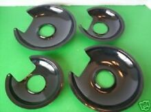 NEW 4 BLACK PORCELAIN Drip Pans FOR THE JENN AIR Cartridge A100 OR THE JEA7000
