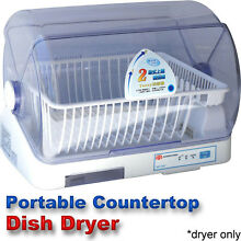 Compact Portable Dish Dryer   Tabletop Small Apartment Mini CountertopDishdryer