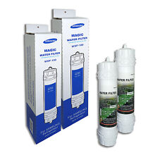 2 x Genuine Fridge Filter Samsung WSF 100 Magic Water Filter