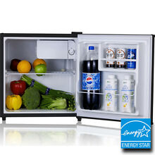 Mini Stainless Steel Refrigerator   Freezer Compact Small Dorm Office Ice Fridge