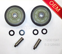 PS1570070 OEM FACTORY DRYER PARTS 2 ROLLERS 2 SHAFTS MAYTAG ADMIRAL CROSLEY