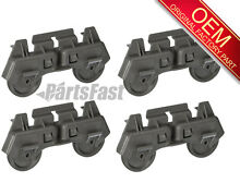 4 PACK   1552204 OEM FACTORY WHIRLPOOL Lower Dishrack Roller Assembly