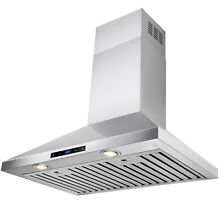 30  Stainless Steel Wall Mount Range Hood Touch Control Stove Kitchen