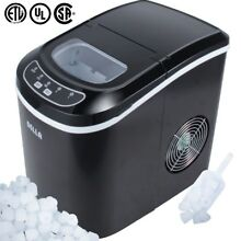 Portable Electric Ice Maker  Touch Button Display  26 Pounds Per Day Max  Black