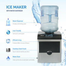 Stainless Steel Water Dispenser w  Built In Ice Maker Machine Counter Portable