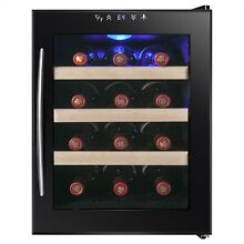 12 Bottle Thermoelectric Touch Refrigerator Wine Chiller Cooler Cellar Fridge