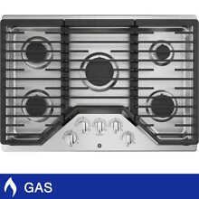 GE 30  Built In GAS Cooktop in Stainless Steel 15 000 BTU Power Boil Burner