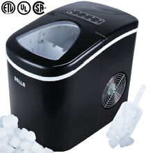Portable Electric Ice Maker Touch Button Display 26 Pounds Max 2 Cube Sz  Black
