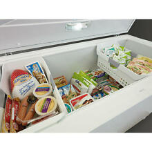 15 6 Cubic Foot Kenmore Chest Freezer with Lock   2 Baskets