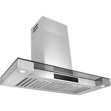 30  LED Display Touch Control Stainless Steel Wall Mount Kitchen Range Hood Vent