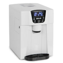 Freestanding Water Dispenser Built In Ice Maker Machine  2 Size Ice Cube  White