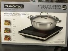 New Tramontina 3 Piece Induction Cooking System 4 Quart Covered Pan