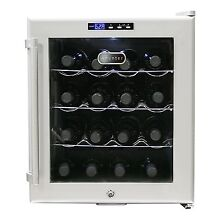 Wine Cooler with Lock 16 Bottle Drinks Thermostat Rack Storage Fridge Cellars