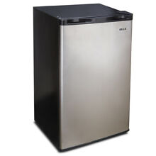 Mini Refrigerator Freezer 3 2 cu ft Fridge Compact Cooler Reversible Door Steel