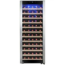80 Bottle Single Zone Compressor Electric Wine Cooler Refrigerator Touch Control