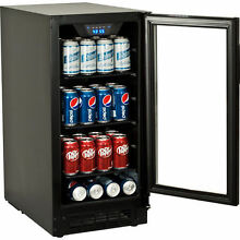 Built In Undercounter Glass Door Refrigerator   Slim Beverage Cooler Mini Fridge
