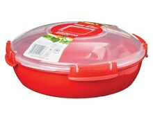 Sistema Microwave Plate  Round  1 3 Litre   Red