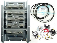 279838 Dryer Heating Element with 92  Belt and all Thermostats Fuses