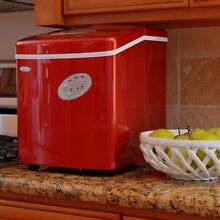 NewAir AI 100R 28 Pound Portable Icemaker  Red