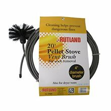 Rutland 4 Inch Pellet Stove Dryer Vent Brush with 20 Feet Handle