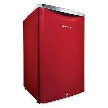 Danby 4 4 Cubic Feet Compact Sized Mini Beverage Refrigerator with Lock  Red