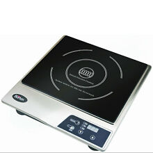Max Burton Portable Stainless Steel Deluxe Countertop Induction Cooktop Burner