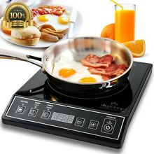 Hot Plate 1800W Electric Portable Induction Cooktop Countertop Burner Trip Camp