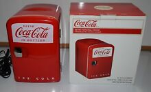 Coca Cola Retro Personal Mini Fridge Cooler   Gently Used   In Box