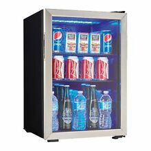 Danby 95 Can 2 6 Cu  Ft  Free Standing Beverage Center  Stainless Steel