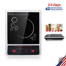 USA Electric Portable Induction Cooker Burner Cooktop Digital LED Display 2000W