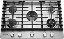 30 in  Gas Cooktop Stainless Steel 5 Burners Professional Dual Tier Torch Simmer