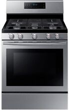 30 in  5 8 cu  ft  Gas Range Self Cleaning Fan Convection Oven Stainless Steel